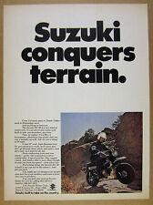 1972 Suzuki RV-90 RV90 All-terrain Motorcycle photo vintage print Ad