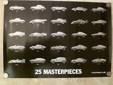 2014 Porsche Museum Historical Production & Race Cars Advertising Poster RARE!!