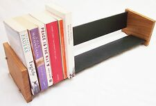 Oak Slate Design Long Book Rack - Modern Contemporary Style