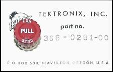 """Tektronix 366-0281-00 Knob Red marked """" Pull For Sync """"  - NEW"""