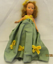 """All Bisque Antiqu K & H Usa Jointed Arms 7"""" Girl Doll In Orig Box from 1930's !"""