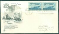 US FDC 958-SWEDISH PIONEERS CANCL.JUNE-4-1948 CHICAGO ILL. ADDR.