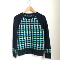J Crew 100% Lambs Wool Small Argyle Preppy Sweater Size XS EUC Womens