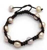 perla acqua dolce PERLE COLTIVATE GRANDE Bianco Perle bracciale