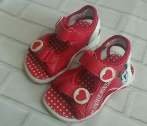 toddler Girls Minnie mouse sandals size 4 Mothercare