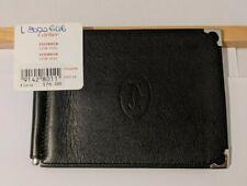 New MUST de CARTIER BLACK WALLET + MONEY CLIP CARD HOLDER PEN CUFFLINKS PASHA