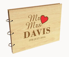 Darling Souvenir Personalized Engraved Laser Cut Wedding Guest Book-mit