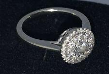 Engagement Wedding Ring Mosaic Style 14k White Gold 3/4TW H/I I1/I
