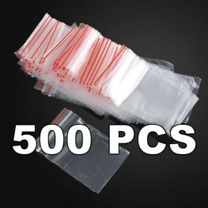 500pcs Lot of 70mm x 100mm ZIP Lock Polybag 70x100mm 70.100 mm 500 Ziplock Bag