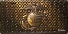 Aluminum Military License Plate U S Marine Corps Emblem full color NEW Made USA