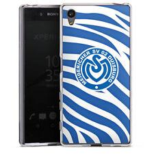 Sony Xperia Z5 Silikon Hülle Case - Blaues Zebra MSV