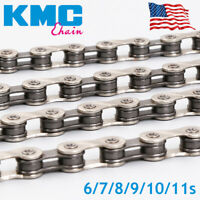 "KMC 116/118L Chain double ""X"" MTB Bike 6/7/8/9/10/11S Cassette 1/2X3/32"" 11/128"""