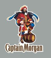 """Captain Morgan Decal Sticker Hard Hat Cell Phone Drink Toolbox Food Bar 2.5 """""""