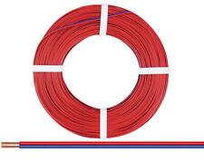 Kupfer-Zwillingslitze / Doppellitze rot/blau  50m   [1m = 0,278€]  NEU