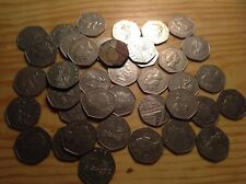 Lot of British 50 pence Coins - foreign exchange 20 pounds face