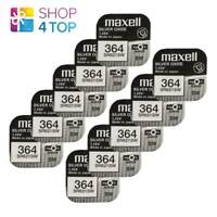 10 MAXELL 364 363 SR621SW BATTERIES SILVER 1.55V WATCH BATTERY EXP 2022 NEW