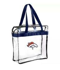NFL Denver Broncos  Clear Zipper Messanger Tote Bag