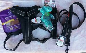 NEW KONG MAX SET ULTRA DURABLE STRONG HARNESS, COLLAR & LEASH - BLACK - SIZE XL