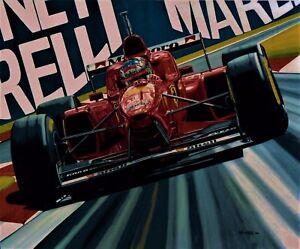Michael Schumacher 69 x 55 cms limited edition F1 art print by Colin Carter