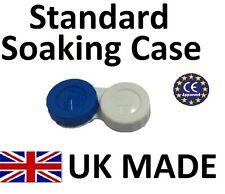 1 X Lente de contacto de color azul y blanca, caja de almacenamiento-L + R marcado-UK Made
