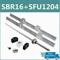 SBR16 Linear Rail 16mm Set + SFU1204 BallScrew BK/BF10 kit 300-1500mm CNC DIY