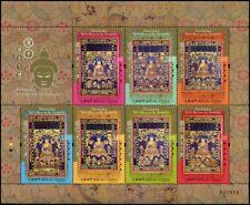 Macau Macao 2017 Thangka Sieben Buddhas Religion Kleinbogen Postfrisch MNH