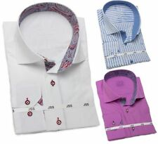 Button Cuff Machine Washable 2XL Chest Formal Shirts for Men