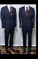 Mens BNWT Ben Sherman Kings Slimfit Suits 40S, 33W 2-Piece100% Wool Stripe Suit