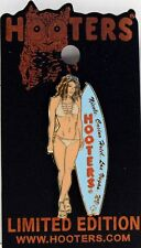 HOOTERS NICOLE CASINO HOTEL LAS VEGAS NV - BLUE SURFBOARD TAN BATH-IN SUIT PIN