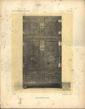 Stampa antica BUFFET MOBILE CINESE DECORATO CINA CHINA 1922 Antique print T. 13