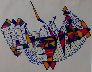 """Norman Quinn """"Space Travel"""" ink on paper c1970 (butch quinn 
