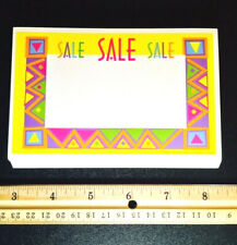 Wait! 25pk ☀Aztec / Native American Indian Style!☀ Rare Retail Store Price Signs