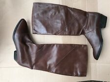 Maserati Brown Italian Leather Pull on Boot size 6.5M