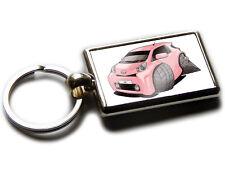 TOYOTA iQ Hatch Back Car Koolart Chrome Keyring Picture Both Sides