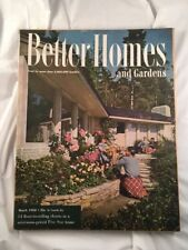 Better Homes and Gardens Vintage Old Magazine March 1950 Home Decorating