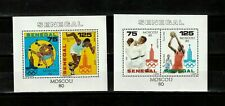 Senegal Souvenir Sheets #539 & 540, MNHOG, XF, Sports, Olympics
