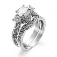 Fashion 2pcs women's sets of rings Accessories creative jewelry zircon Rings