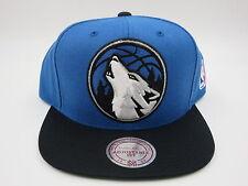 Minnesota Timberwolves T-Wolves Blue Wool Mitchell & Ness NBA Snapback Hat Cap