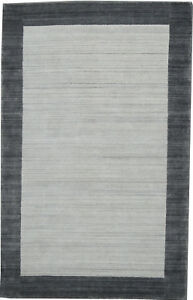 Fine 6 x 9 Rug Beige Background Hand knotted Wool