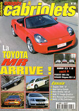 REVUE MAGAZINE COUPES & CABRIOLETS N°18 05/2000 TOYOTA MR BMW Z3 JAGUAR XKR AUDI