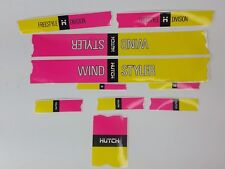 NOS Old school Hutch windstyler BMX Decal sticker set Yellow &  Pink Wind Styler