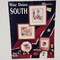 Way Down South Bluegrass Southern Cross Stitch Leaflet Book Puckerbrush 1986