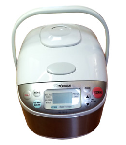 Zojirushi NS-TGC10 5-1/2 Cup Fuzzy Logic Rice Cooker & Warmer Used Once! CLEAN!