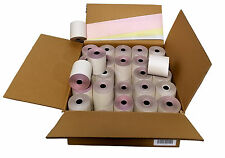 """3-ply 3"""" inch 65' Feet (100 Rolls) White/Canary/Pink Kitchen Paper 100 Rolls"""