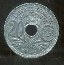 20 centimes  ZINC LINDAUER   1946  ( 3 )