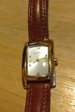 Vintage Nine West Ladies watch, Vintage leather band running with new battery C
