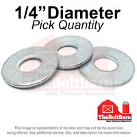 """Pick Quantity 1//2/"""" SAE Flat Washers Low Carbon Steel Zinc Plated"""
