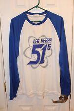 New listing white / blue Las Vegas 51's long-sleeve SGA shirt - adult extra-large / XL