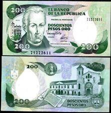 COLOMBIA 200 PESOS 1992 P 429 UNC