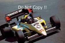 Patrick Tambay Renault RE50 Italian Grand Prix 1984 Photograph 1